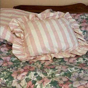 Vintage Striped Throw Pillow Sanderson